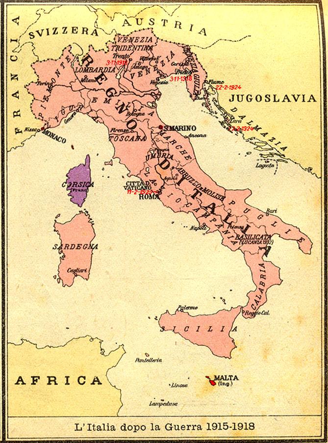 Cartina D Italia 1915.Prima Guerra Mondiale L Europa Prima Della Guerra 1914 18