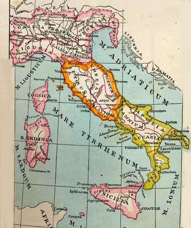 Cartina Italia Nel 400.Italia Cronologia L Italia E Il Suo Nome