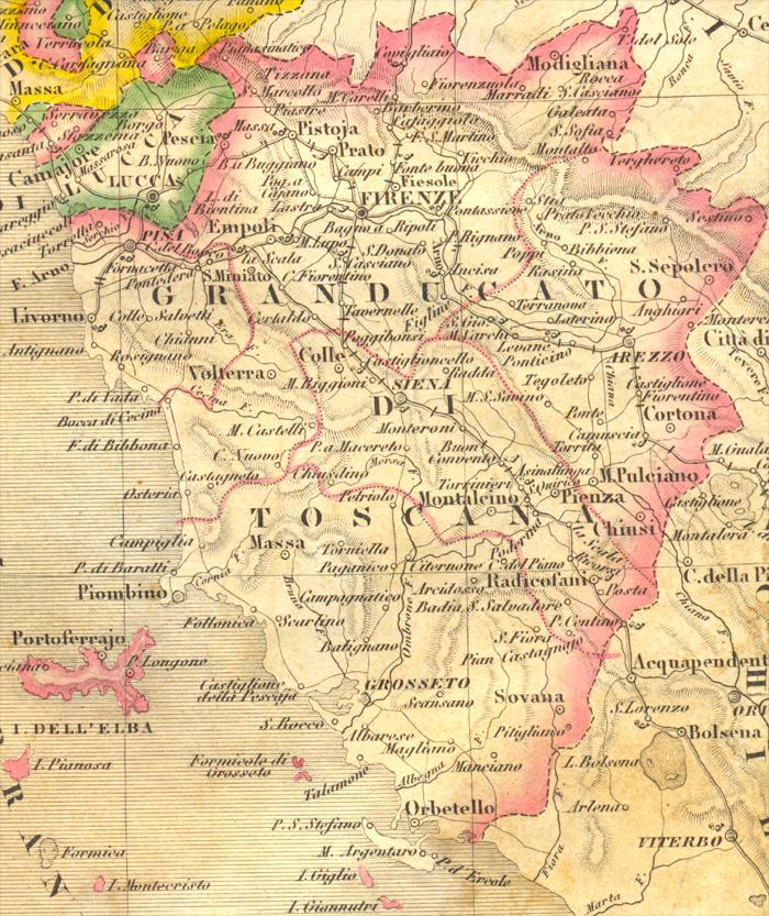 Www Cartina Toscana.Granducato Di Toscana Nel 1843 Cartina E Struttura