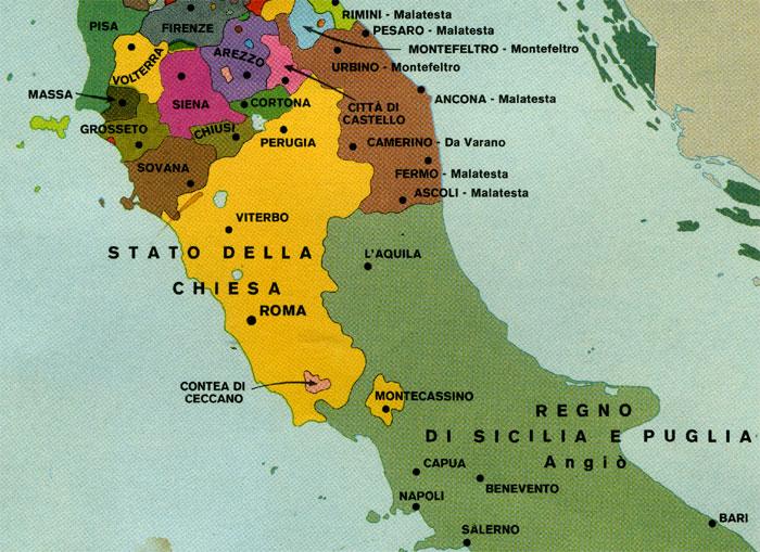 Cartina Italia Nel 1400.Italia I Piccoli Stati A Fine Medioevo Storia Delle Civilta